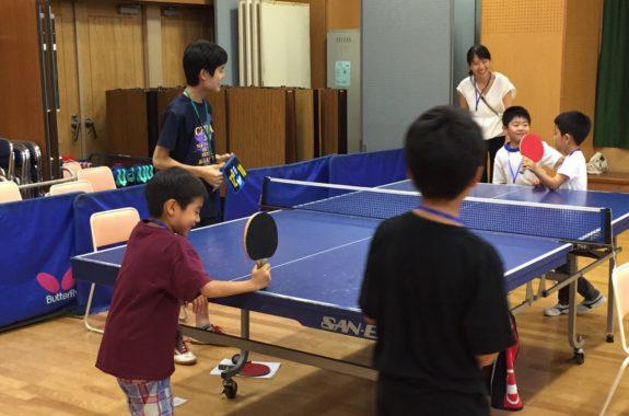 2017夏休みセミナー「卓球教室」...